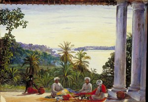 Bombay Pedlars in Mrs Cameron's Verandah, Kalutera, Ceylon