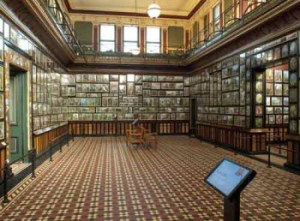 Interior of the Marianne North Gallery, Royal Botanical Gardens at Kew
