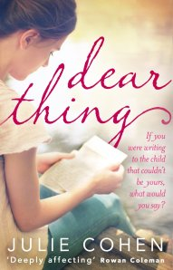 "Not that Julie Cohen will need it, but feels like giving ""Dear Thing"" a plug is the very least I could do..."